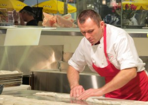 "Bojan ""The Burek Man"" Aleksic makes traditional Burek with our own house-made phyllo dough at City Fresh Market."