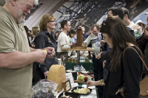 Guests enjoy food, wine, beer and spirits at the 2012 Artisan Producer Festival.